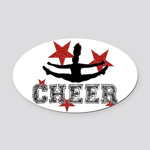 Cheerleader Oval Car Magnet