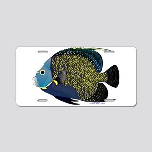 French Angelfish Aluminum License Plate