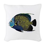 French Angelfish Woven Throw Pillow