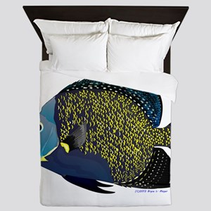 French Angelfish Queen Duvet
