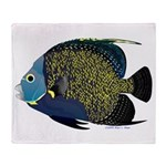 French Angelfish Throw Blanket