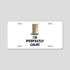 Perfectly Calm Aluminum License Plate