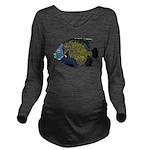 French Angelfish C Long Sleeve Maternity T-Shirt