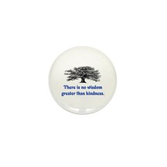 WISDOM GREATER THAN KINDNESS Mini Button (10 pack)