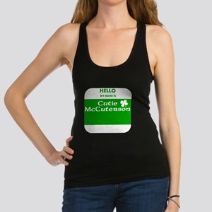 My Name Is Cutie McCuterson Racerback Tank Top