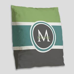 Elegant Modern Monogram Burlap Throw Pillow