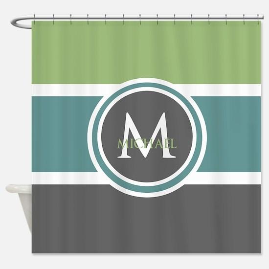 Elegant Modern Monogram Shower Curtain