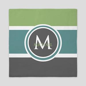 Elegant Modern Monogram Queen Duvet