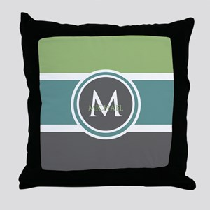 Elegant Modern Monogram Throw Pillow