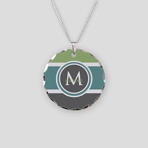 Elegant Modern Monogram Necklace Circle Charm