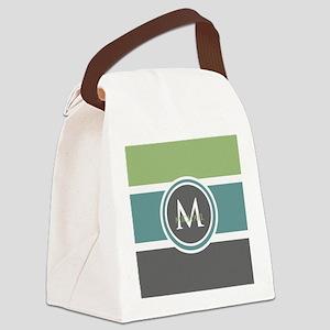 Elegant Modern Monogram Canvas Lunch Bag