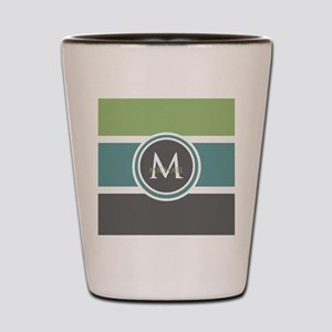 Elegant Modern Monogram Shot Glass