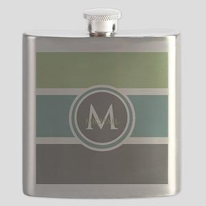 Elegant Modern Monogram Flask