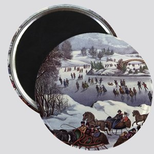 Central Park in Winter Magnet