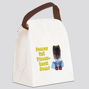 Cairn Terrier Oz Yellow Brick Roa Canvas Lunch Bag