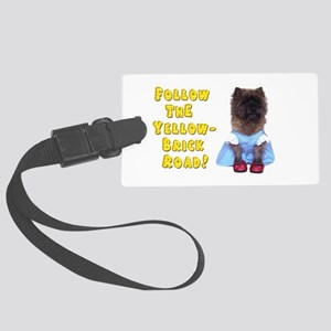 Cairn Terrier Oz Yellow Brick Ro Large Luggage Tag