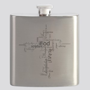 Christian cross word collage Flask