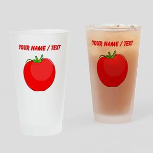 Custom Red Tomato Drinking Glass