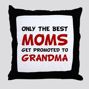 Promoted Grandma Throw Pillow