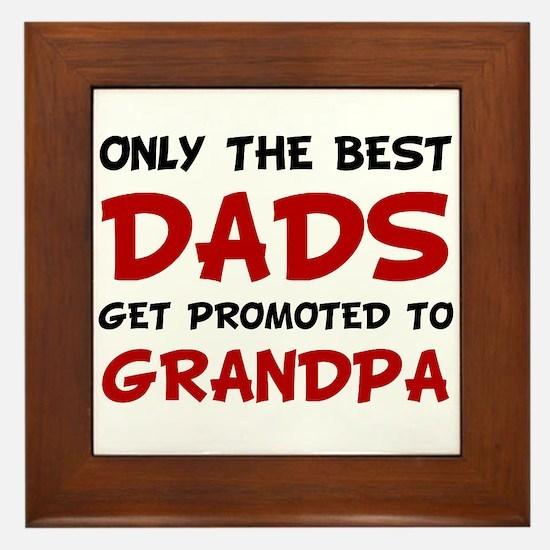 Promoted Grandpa Framed Tile