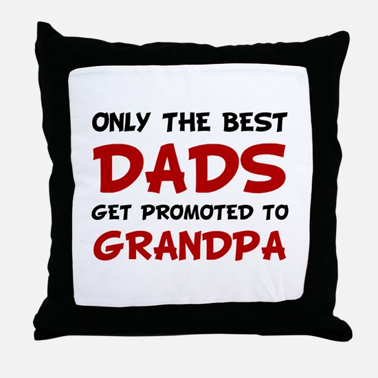 Promoted Grandpa Throw Pillow