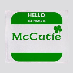 My Name Is McCutie Throw Blanket