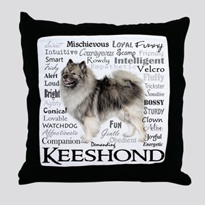 Keeshond Traits Throw Pillow
