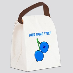 Custom Blueberries Canvas Lunch Bag