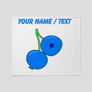 Custom Blueberries Throw Blanket