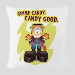 Garfield Gimme Candy Woven Throw Pillow