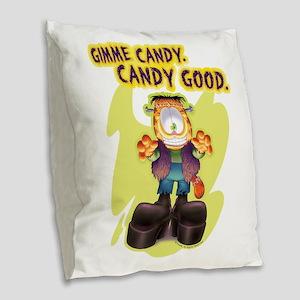 Garfield Gimme Candy Burlap Throw Pillow