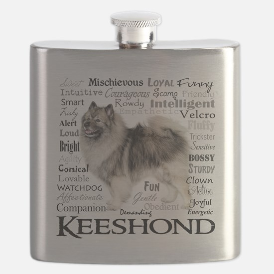 Keeshond Traits Flask