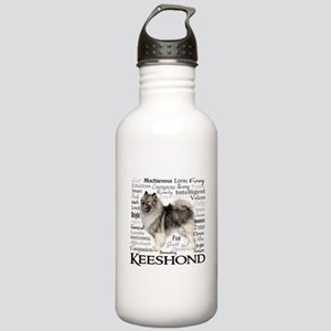 Keeshond Traits Water Bottle