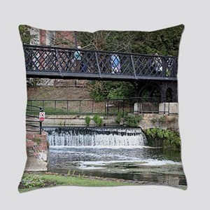 Jesus Lock footbridge, Cambridge Everyday Pillow