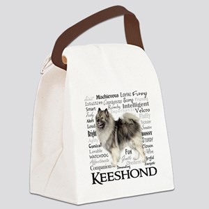 Keeshond Traits Canvas Lunch Bag