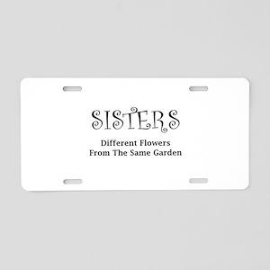 Sisters Garden Aluminum License Plate