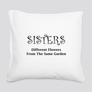 Sisters Garden Square Canvas Pillow
