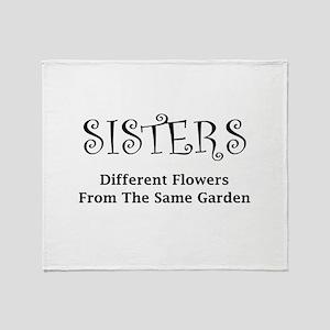Sisters Garden Throw Blanket
