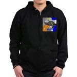 Zombie Mechanic Jokes Zip Hoodie (dark)