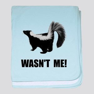Skunk Wasnt Me baby blanket