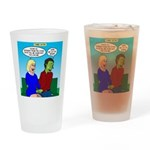 Zombie Dating Drinking Glass