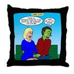 Zombie Dating Throw Pillow