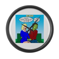 Zombie Dating Large Wall Clock