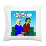 Zombie Dating Square Canvas Pillow