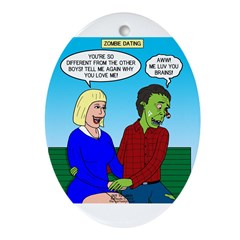 Zombie Dating Ornament (Oval)