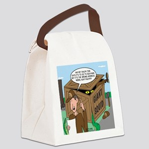Giant Squid Trap Canvas Lunch Bag