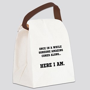 Someone Amazing Canvas Lunch Bag