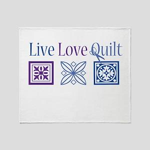 Live Love Quilt Throw Blanket