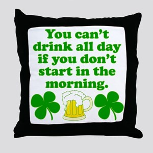 Start In the Morning Throw Pillow