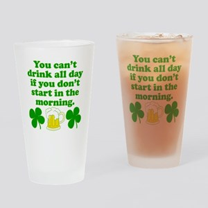 Start In the Morning Drinking Glass